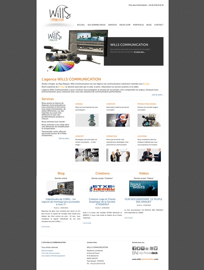 Migration du site insitutionnel de Wills Communication