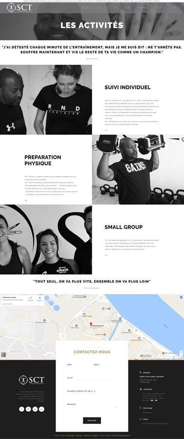 Site vitrine de Sport Challenge Training