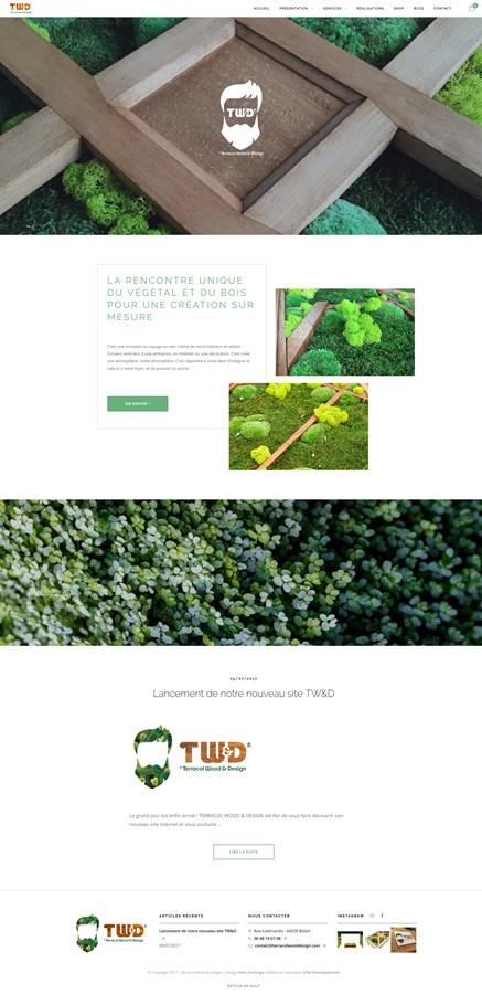 Site vitrine et boutique de Terracol Wood & Design