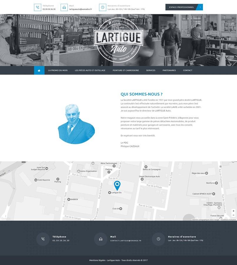 Site internet du garage automobile Lartigue Auto à Bayonne