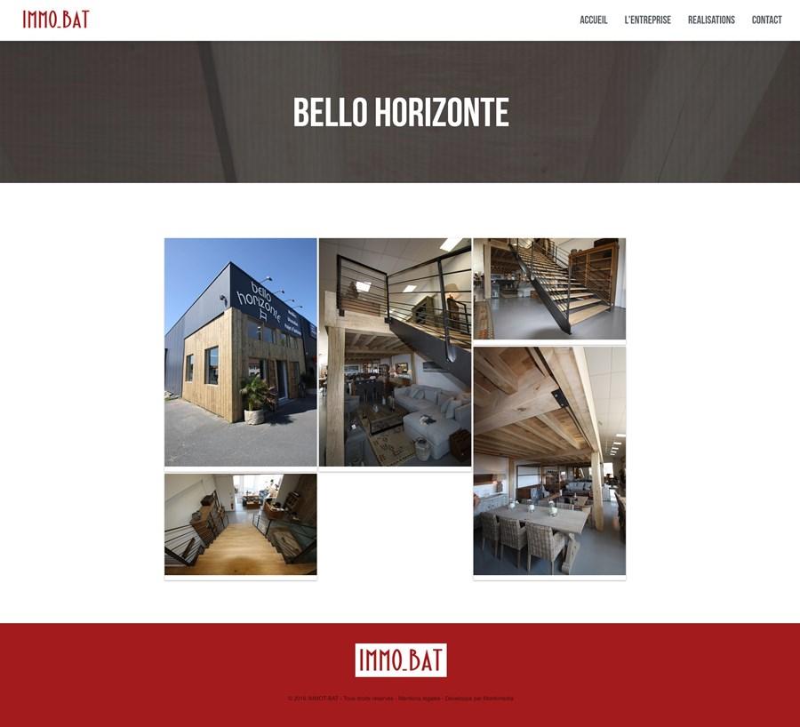 Site institutionnel de l'entreprise IMMO-BAT