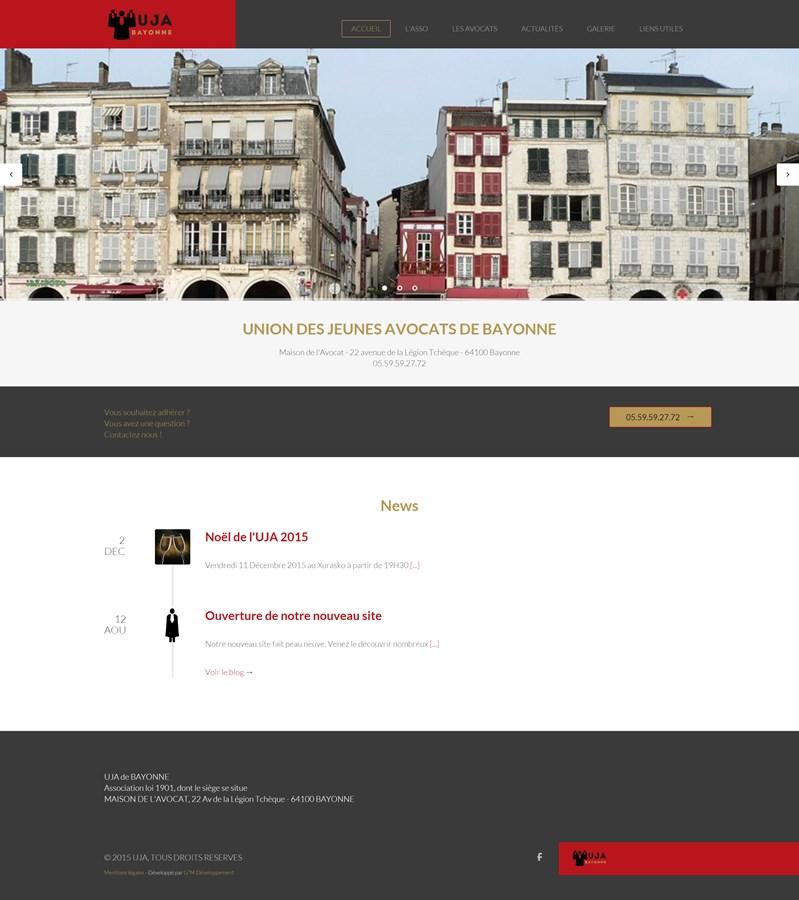 Site institutionnel de l'UJA de Bayonne