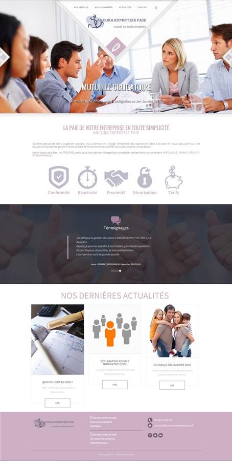 Site institutionnel de la société ANCURA Expertise Paie